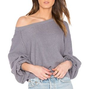 Free People Found my Friend Sweatshirt in Slate